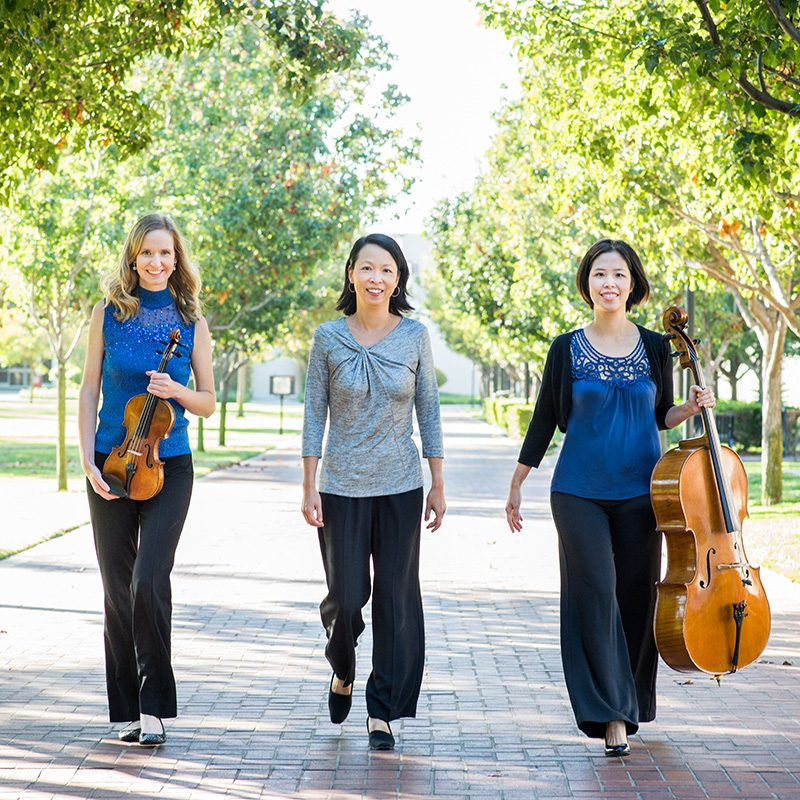 Trio 180 consists of Vicky Wang (cello), Sonia Leong (piano) and Ann Miller (violin).